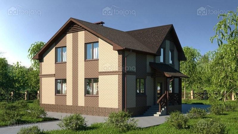 Проект дома со скатной крышей и наружным крыльцом 149-C-2-Z